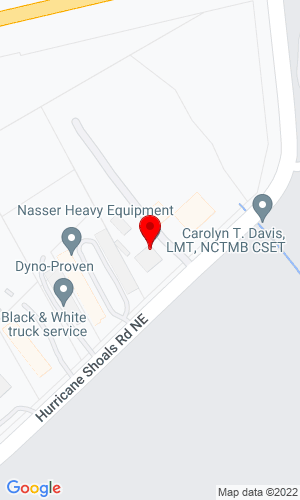 Google Map of Nasser Heavy Equipment 525 Hurricane Shoals Road, Lawrenceville, GA, 30045